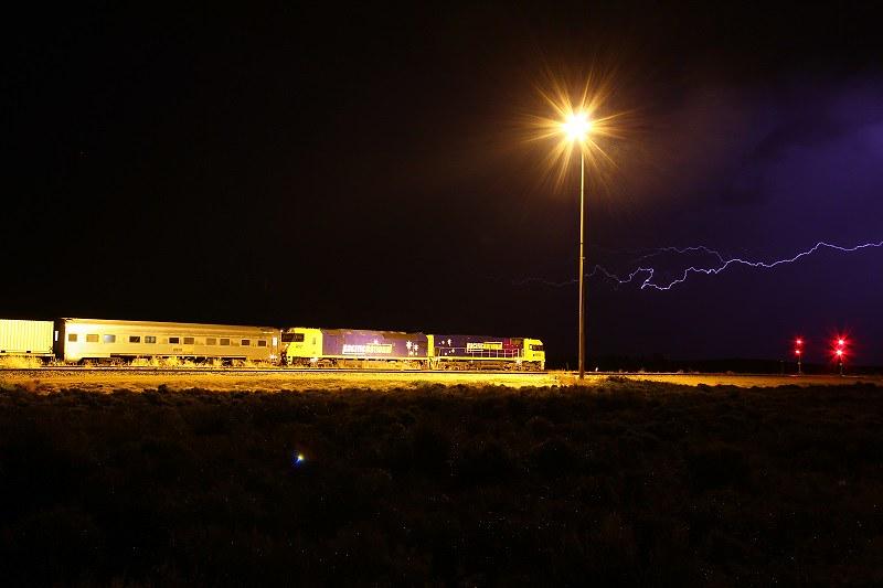 Lightning during shunting by David Arnold