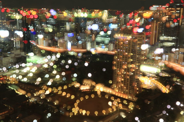 a night view from Tokyo tower.