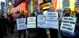 LGBT love is stronger than anti-gay hate - Peter Tatchell and other activists at London's vigil in memory of the victims of the Orlando gay nightclub terror attack. | by alisdare1