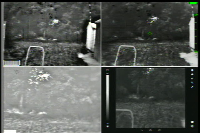 Four thermal cameras