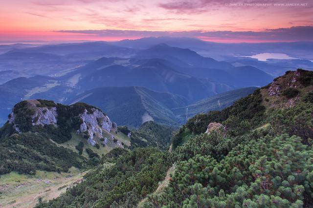 Sunrise at Velky Choc, Slovakia