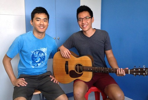 Adult guitar lessons Singapore Aaron