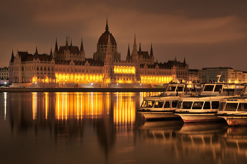 budapest reflection danube waterscape cityscape parliament unesco hungary