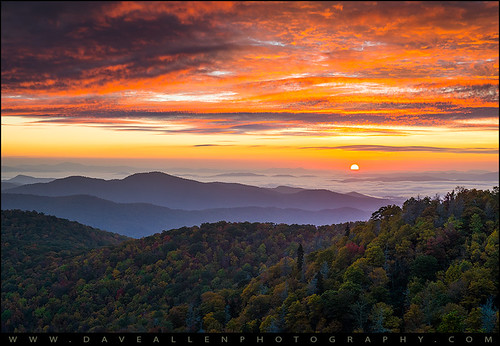 morning autumn sunset mountains sunrise landscape photography blueridgemountains blueridgeparkway daveallen