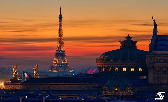 Opéra Garnier @ Sunset