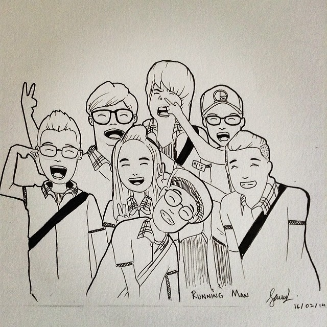 16 | February | 2014 Running Man vers  Cartoon  #doodle #d