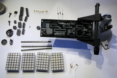Solder:Time Desk Clock assembly