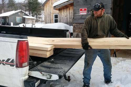 Richie Loading Fresh Sawn Ash Boards | by goingslowly