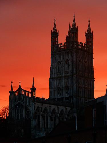 uk greatbritain sunset england night lumix cathedral cloudy unitedkingdom gloucestershire gloucester gloucestercathedral