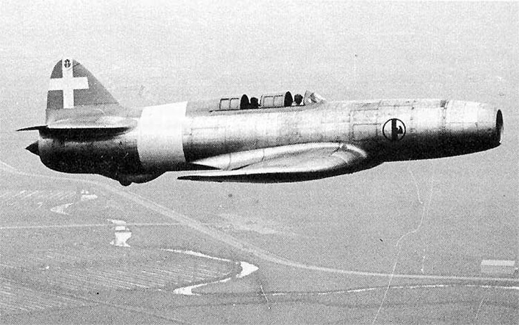 Campini Caproni C.C.2, 1940, early jet engine