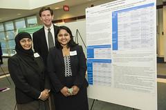 MPH student Maalinii Vijayan with Naila Khalil and John McAlearney