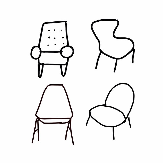 Wondrous Quick Sketch Of Chairs On My Ipad Chairs Drawing Art Pdpeps Interior Chair Design Pdpepsorg
