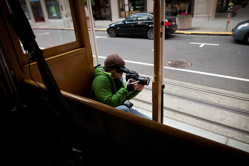 Manfrotto Be Free Tripod ad shoot BTS - San Francisco on the trolley | by The Bui Brothers