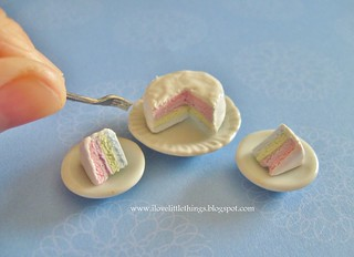 Dollhouse Miniature Pastel Layer Cake