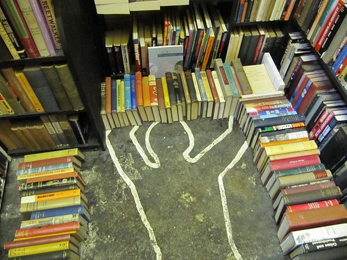 Scene of the crime (novels) at Hay on Wye | by Ian-S