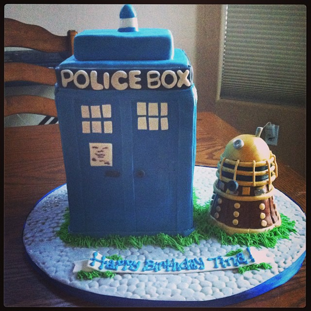 Fantastic Any Dr Who Fans Out There Blue Velvet Tardis Cake For Tin Flickr Funny Birthday Cards Online Inifodamsfinfo