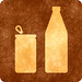 Sepia Grunge Sign - Can & Bottle