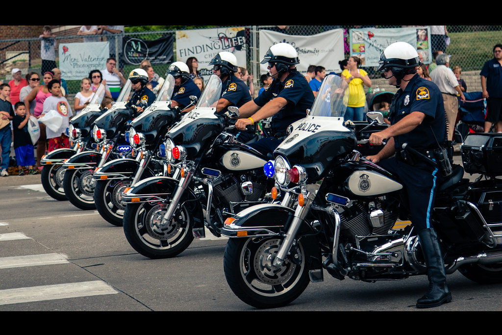 Omaha Police Department | Parade patrol for the Millard days