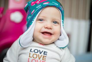Amelia in a Ski Hat   by donnierayjones