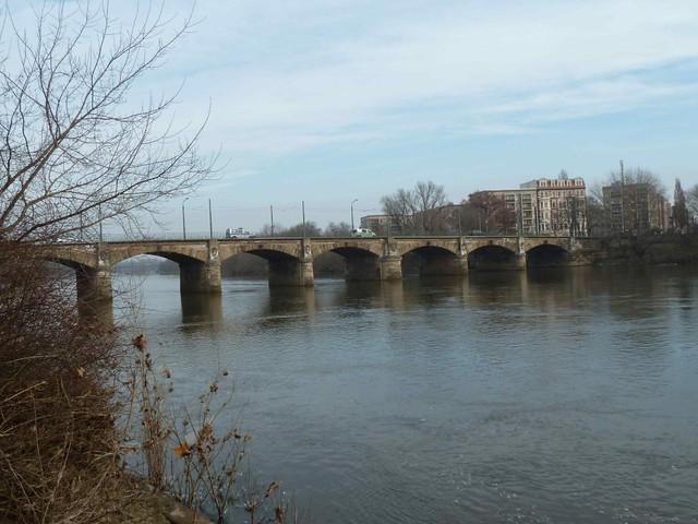 Anna Ebert Bridge in Magdeburg, Germany
