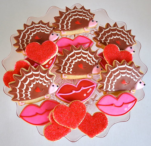 Hedgehogs and Kisses Valentine Cookie Collection | by kelleyhart