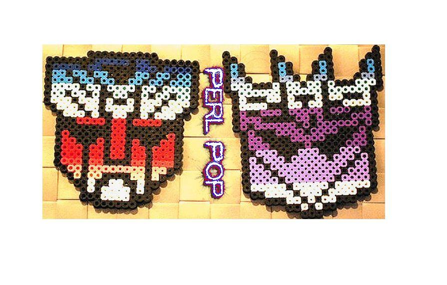 Transformers Decepticons Autobots Perler Beads Pixel Art S