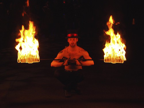Fire Dancer at The Electric Gardens, Glasgow
