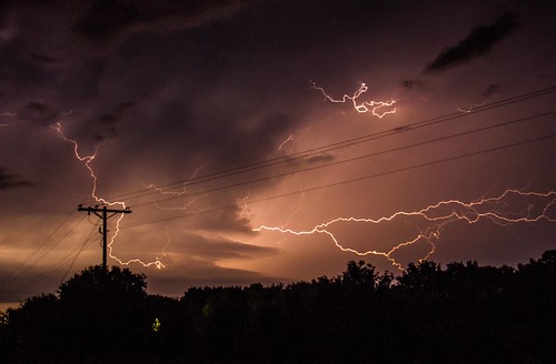 wild dark long exposure pole cables electricity strike lightning activity forks supply constant cloudtocloud