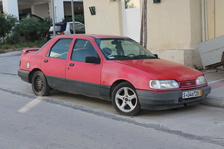 """""""Temporary"""" plates for 12 years!!! German Ford Sierra saloon"""