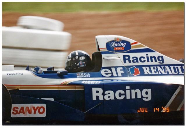 Damon Hill Williams Renault FW17B F1. 1995 British GP Silverstone.