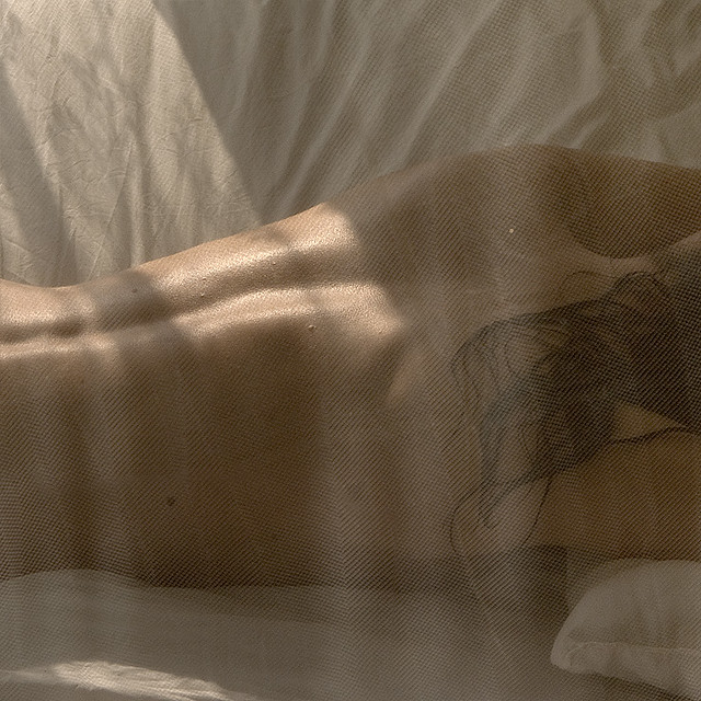 Warmth of the morning sun on her skin