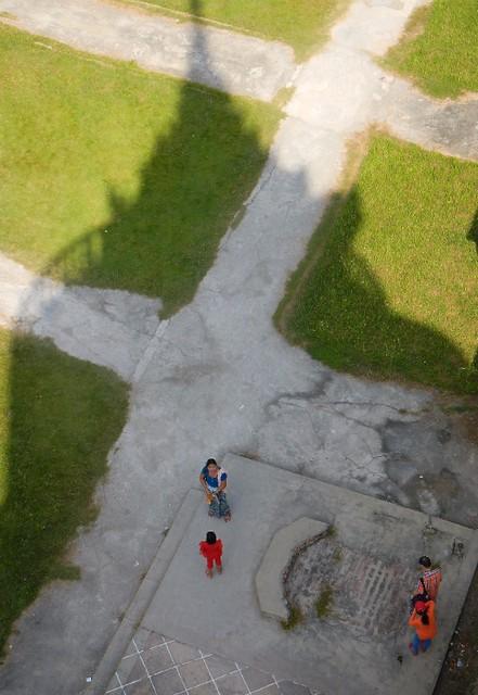 shadow of the temple in Yangon, Myanmar