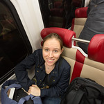 Emily on the new train