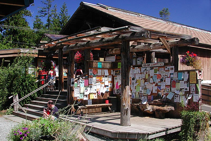 Hornby Island Co-op Store, Hornby Island, Gulf Islands, Georgia Strait, British Columbia, Canada