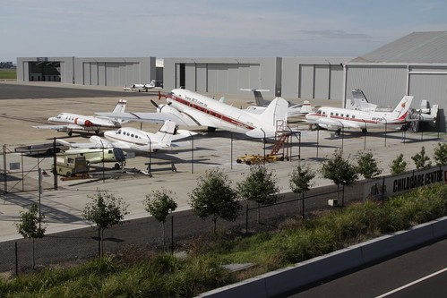 DC3 among parked planes at Essendon Airport