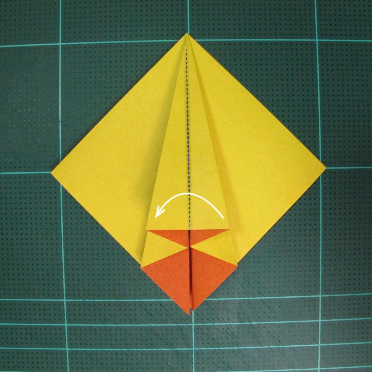วิธีพับกระดาษเป็นรูปนกยูง (Origami Peacock - ピーコックの折り紙) 012