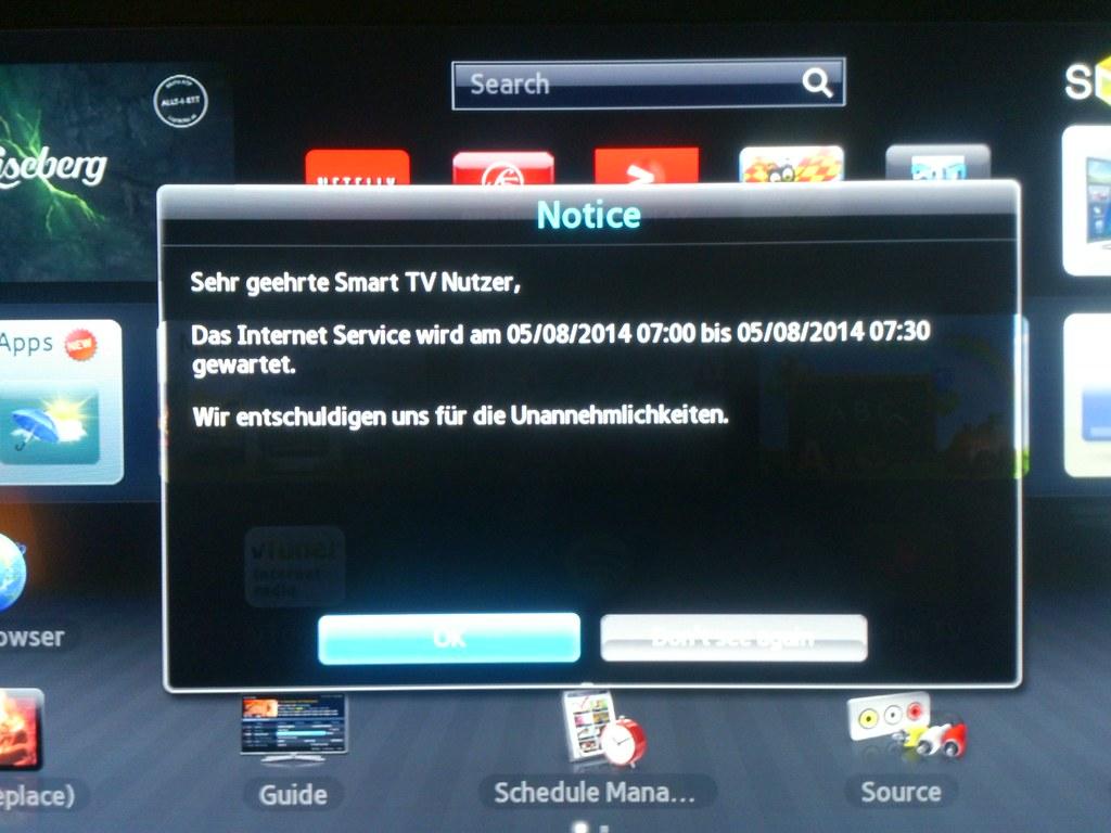 My Samsung Smart TV is so smart it can speak German  #ux #… | Flickr