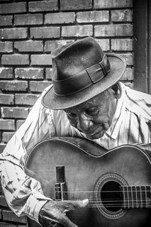 Street Musician - bw | by AtchisonGallery
