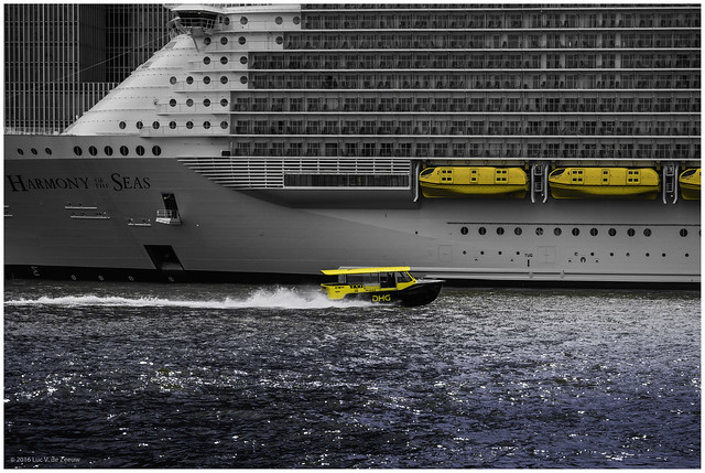 Rotterdam Water Taxi next to the 'Harmony of the Seas' Cruise Ship   [Explored, 2016-05-26]