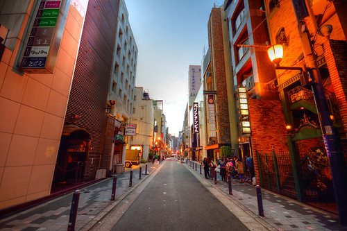 osaka sunrise dawn japan osakajapan street city cityscape downtown 大阪市 asia asian
