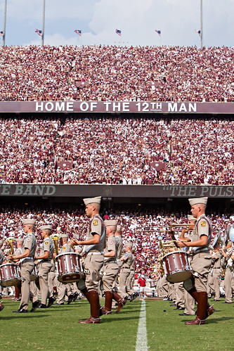 Aggie band halftime