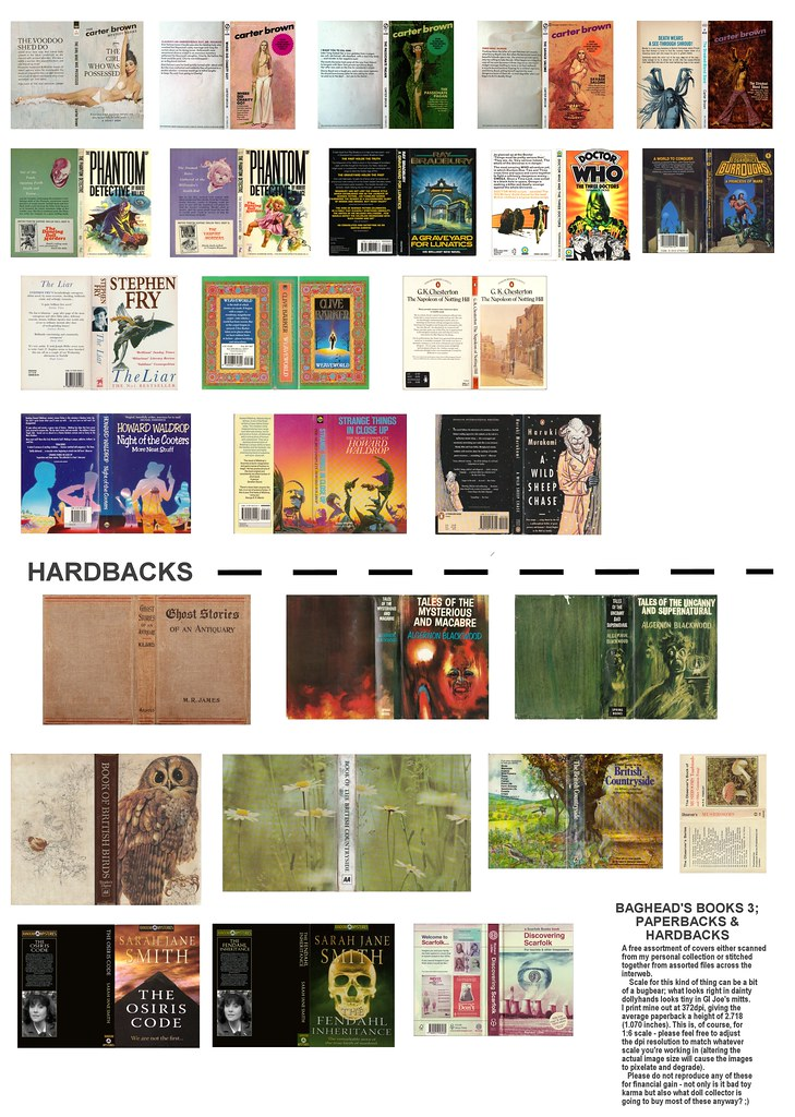 image regarding Printable Book Covers called Printable Reserve Addresses vol 3 A different fastened against Bagheads lib