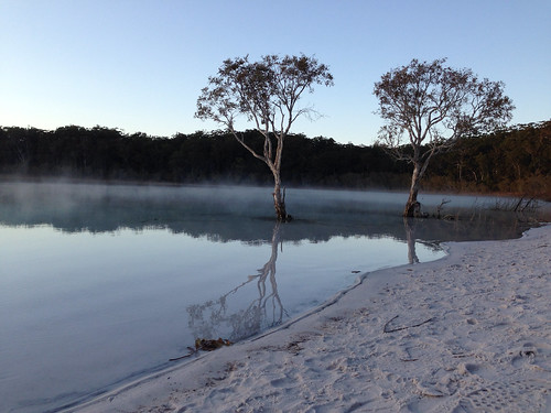 Misty sunrise at Lake McKenzie | by maryocallaghan600
