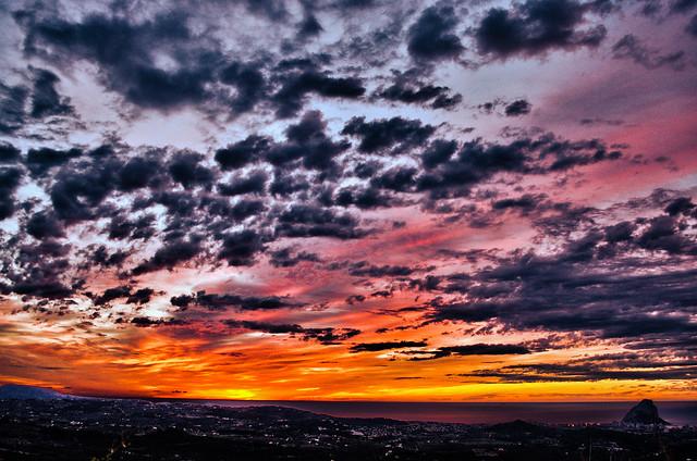 Sunrise over Calpe HDR