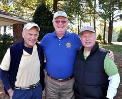 L-R: Linda Brooks' husband George, Ed Smallwood and Jim Morgan.