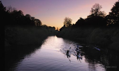mbe 2011 october autumn leixlip celbridge barnhall liffey twilight river riverliffey canoe water watersport reflection nik colorefexpro4 castletown ireland kildare irlanda