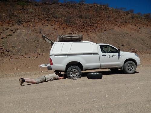 Tussen Sesfontein en Palwag - panne 1