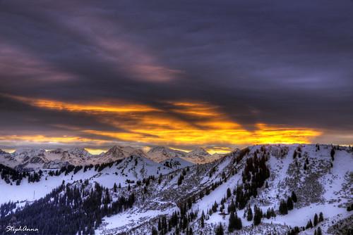 winter mountain alps clouds sunrise switzerland nuages leverdesoleil gastlosen alpesbernoises stephanna