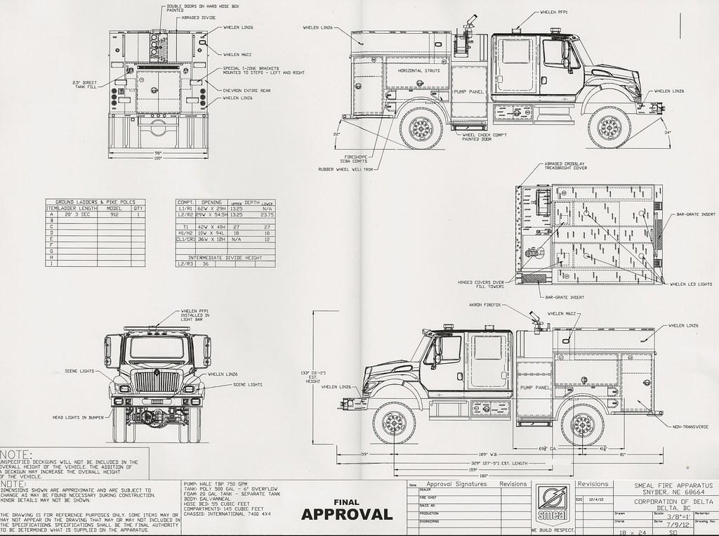 2013 Navistar International WorkStar 7400 4X4 / Smeal (625