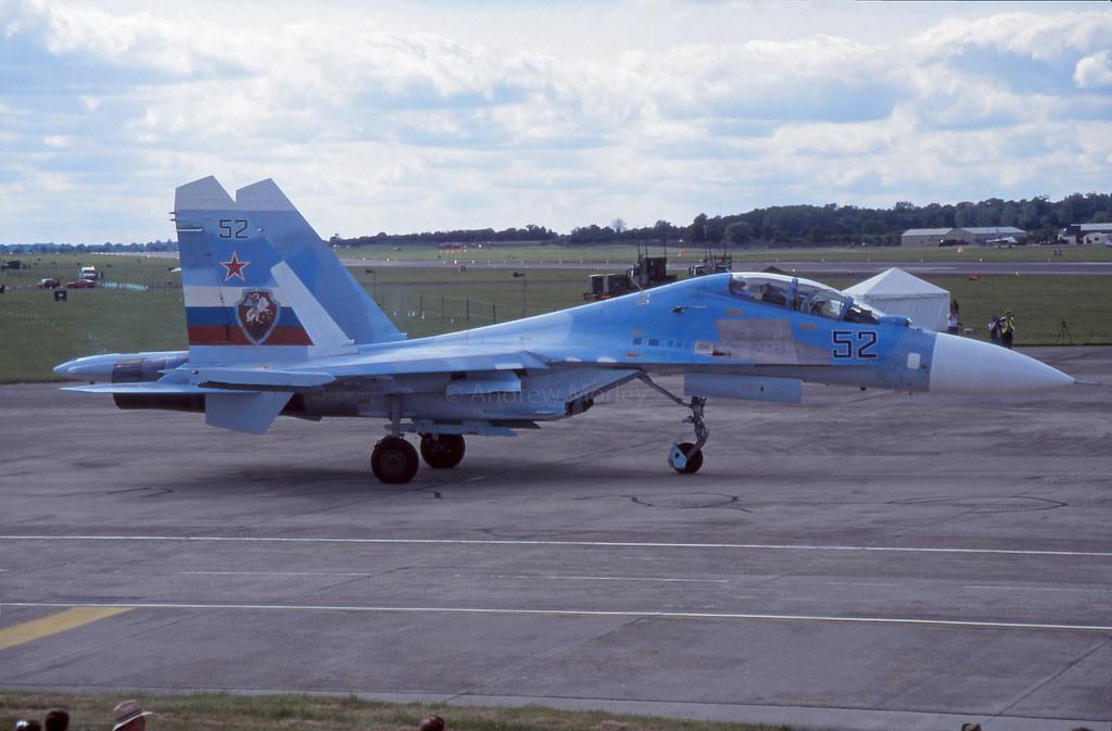 Russian AF Su-30 at RIAT 97.